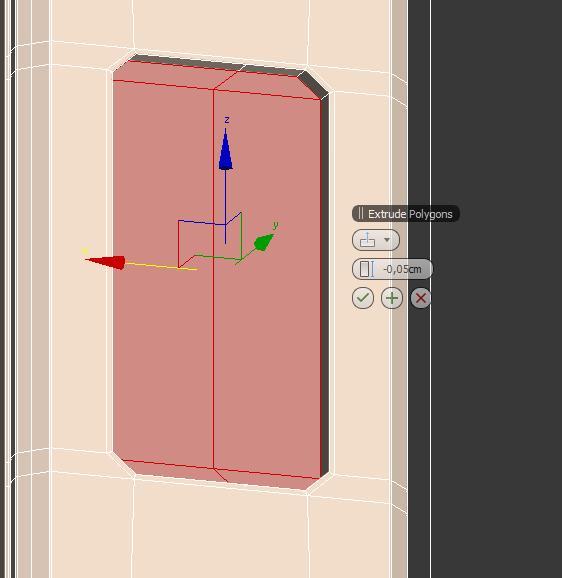 Extruir polígonos del iphone5  en 3ds max.