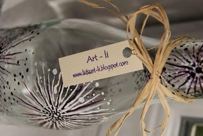 Butelki malowane - malowanie na szkle by Art-li Eco Manufaktura