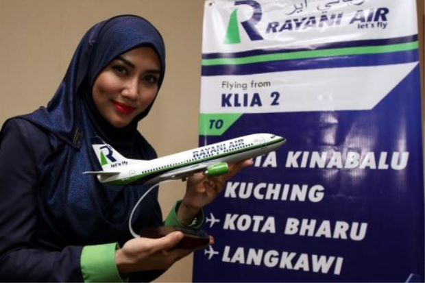 Rayani Air, a fully Shariat-compliant Malaysian airline, launched its first flight on Sunday between Kuala Lumpur to the resort island of Langkawi.  A prayer was announced before take off. Food was strictly halal and there was no alcohol on board. Airhostesses came dressed in hijab, while non-Muslim crew were fully clothed.
