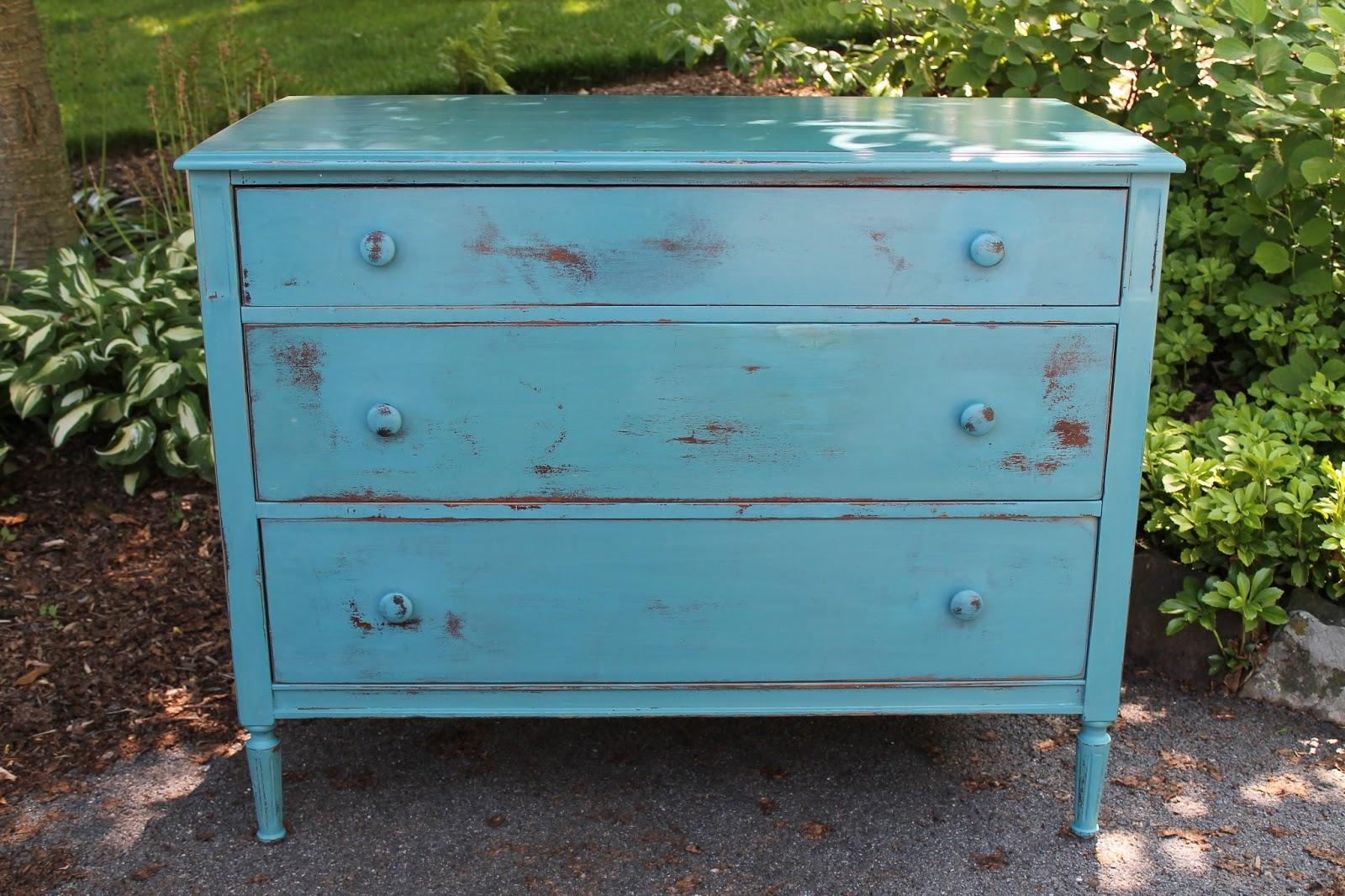 Elizabeth & Co Distressed Milk Paint Dresser