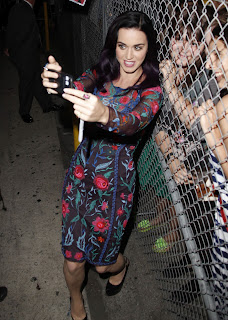 Katy Perry taking photos with her fans