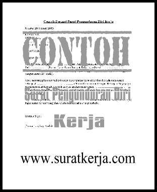 4 Contoh Surat Pengunduran Diri Kerja 2013/2014