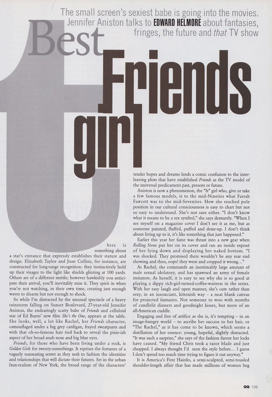 Jennifer Aniston HQ Pictures GQ UK Magazine Photoshoot March 1997