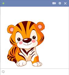 Sweet Tiger Cub Emoticon