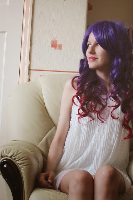 geisha wig indigo