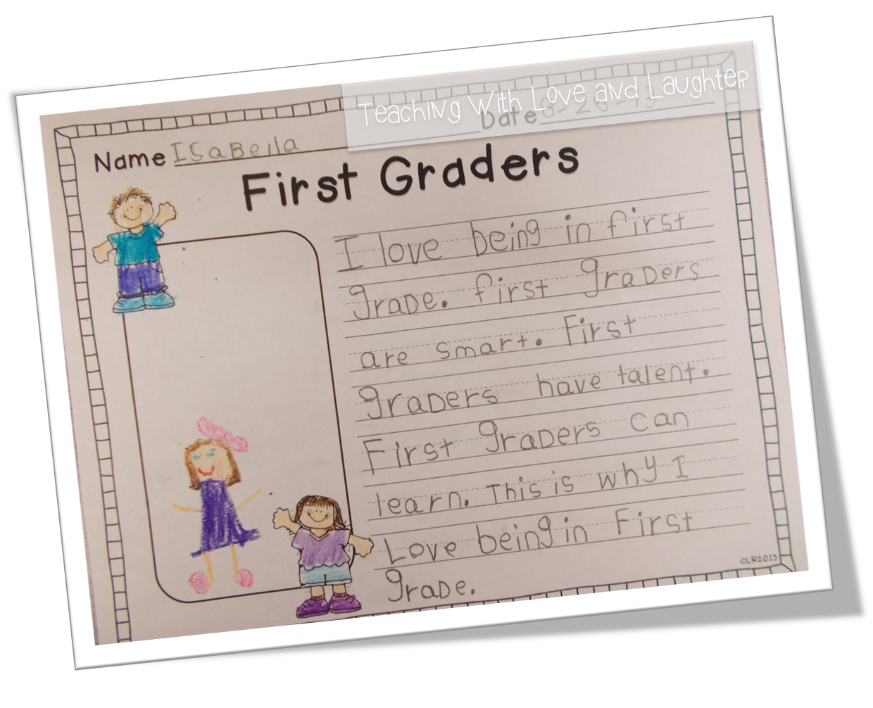 teaching love and laughter kindergarten and first grade writing they all did a great job this writing activity is part of my back to school language activities for first graders