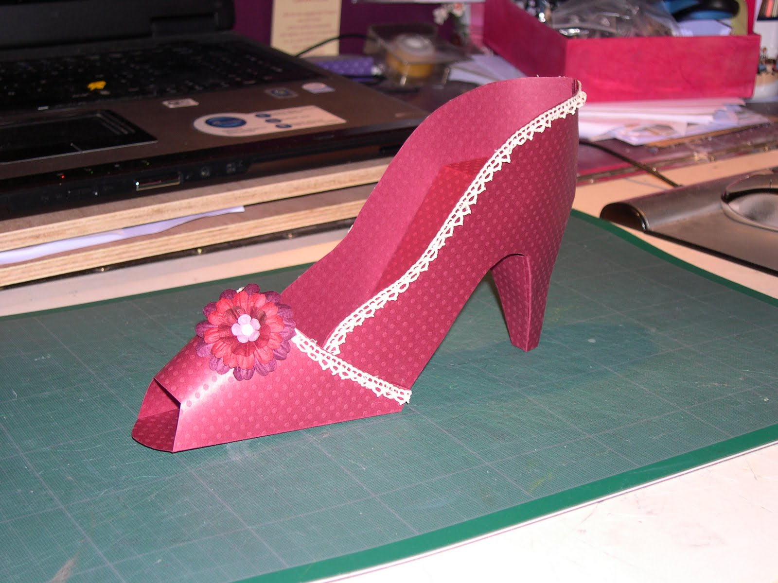 Le scrap de pimousse44 chaussure en papier et bocal s o s - Fabriquer une chaussure en carton ...