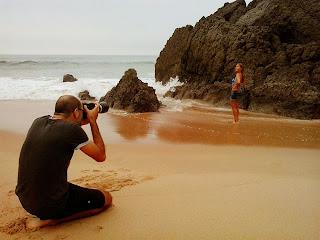 Sessão Fotográfica na Praia