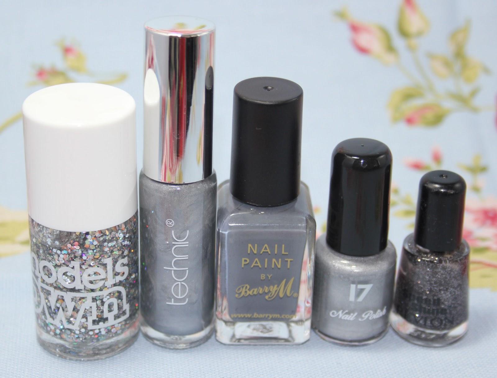 My nail polish collection - silver, grey & grurple - Love Leah