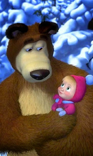 Masha and the bear walpaper cantik untuk android