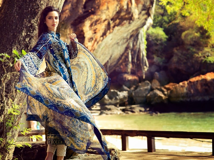 ELANLawnSpring SummerCollection2014 wwwfashionhuntworldblogspotcom 08 - Elan Lawn Spring Collection 2014 By Khadijah Shah