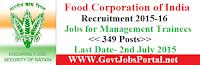 FCI Recruitment 2015-16