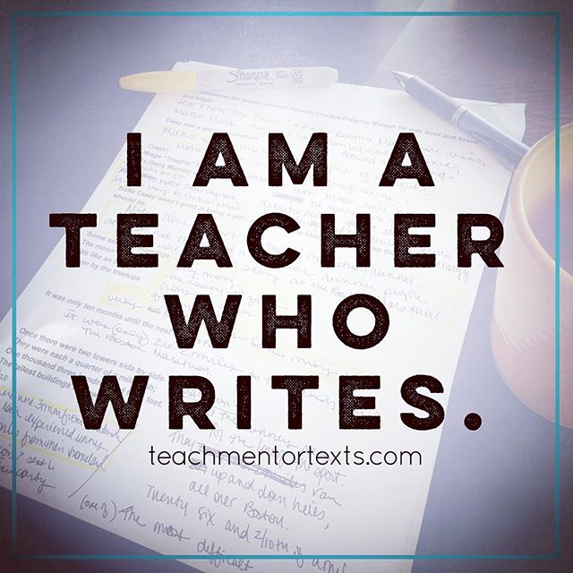 I Am A Teacher Who Writes.