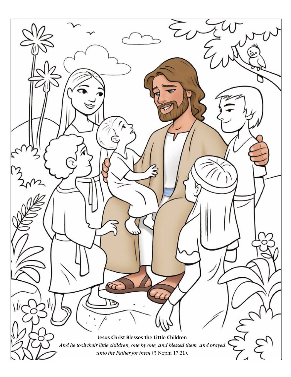 jesus bible coloring pages