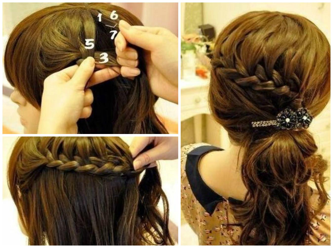 Peinados con trenzas de lado y pelo suelto paso a paso - Peinados y trenzas ...