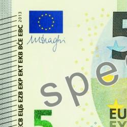 bord d'un billet de 5 euros