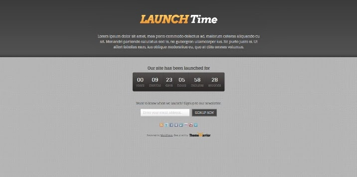 LaunchTime Free WordPress Theme