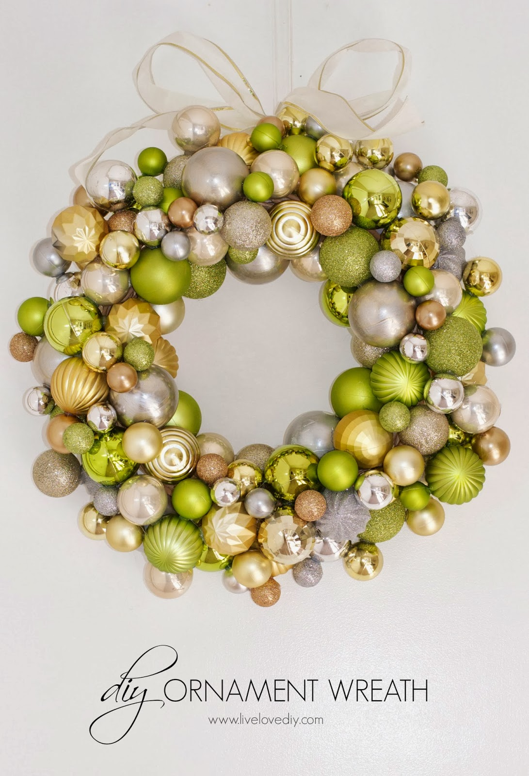 how to make a christmas ornament wreath the ornament wreath i created last year was one of my all time favorite projects it seemed to be one of yours - How To Make My Own Christmas Decorations