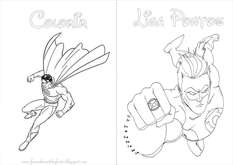 Desenhos Da Liga Da Justiça Para Imprimir AZ Colorir