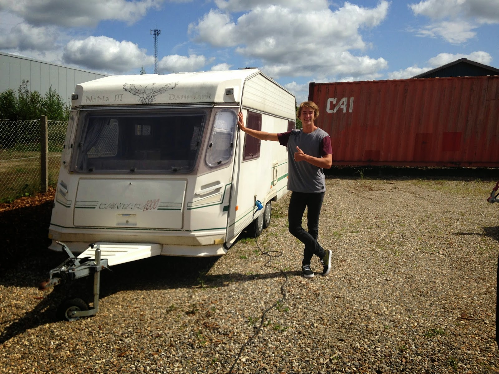 Frederik Leth with his Caravan. Ready for Meribel and Pila