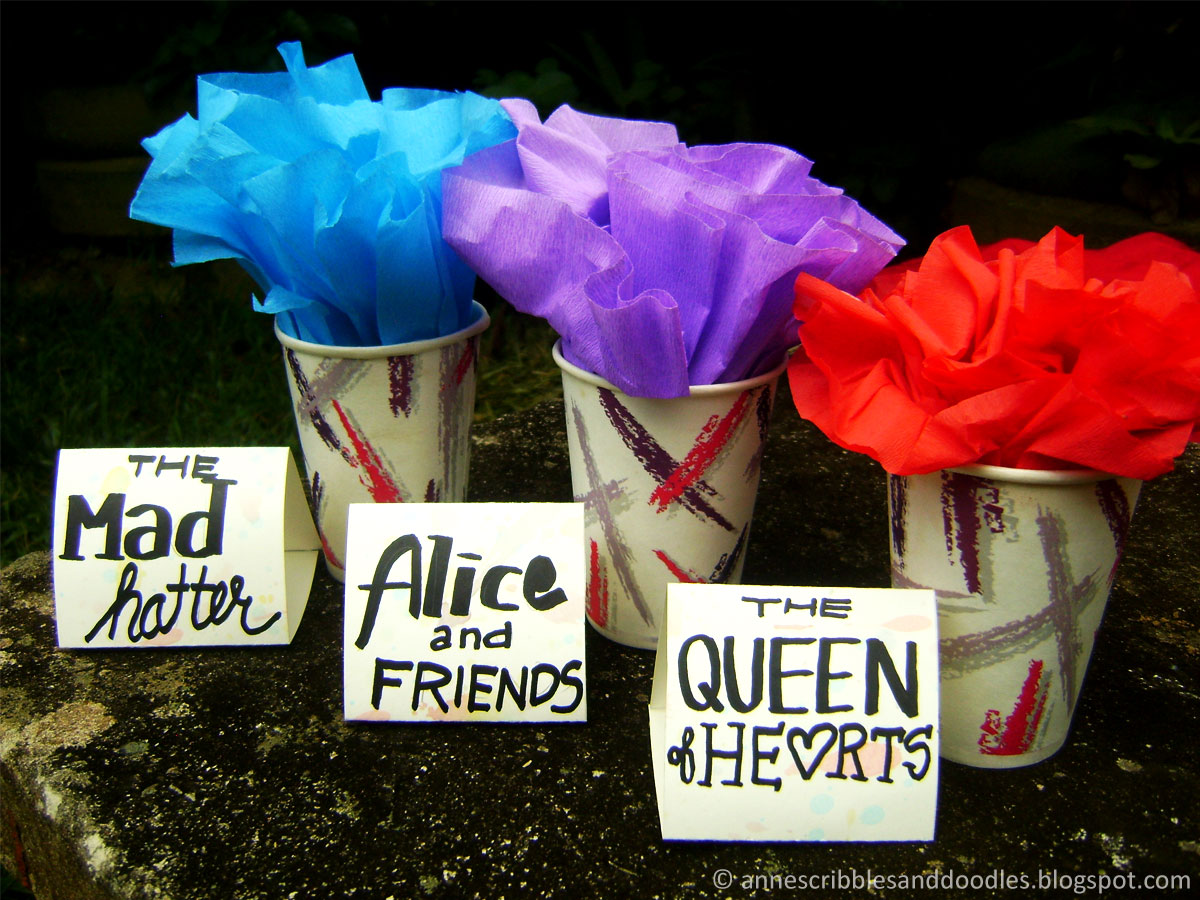 DIY Alice in Wonderland Party Place Card Holders