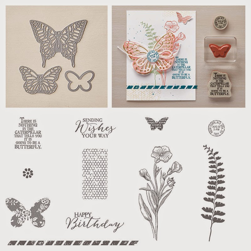 Stampin'UP!'s Butterfly Basics stamp set and Die