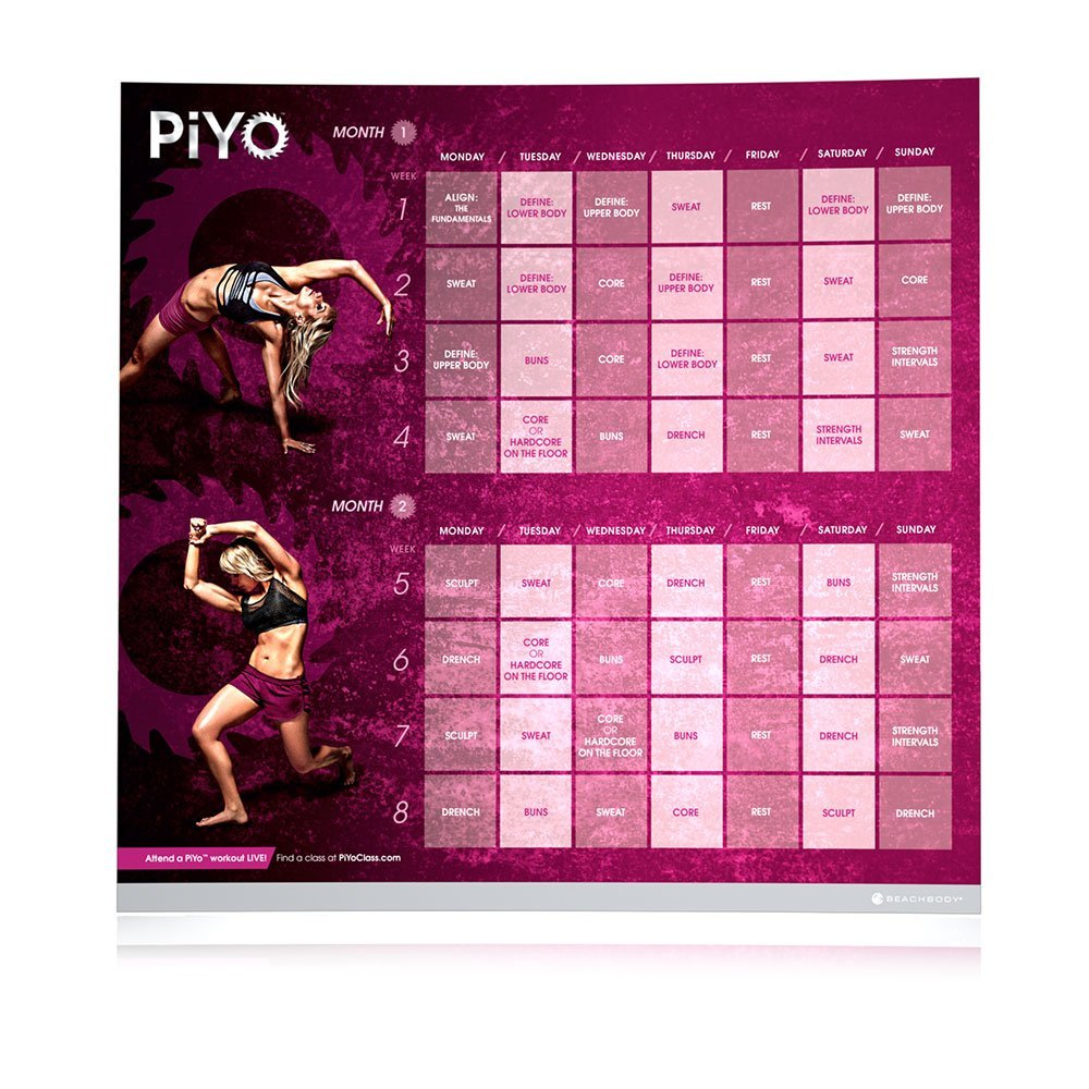also finished the 8-week PiYo workout schedule this weekend.