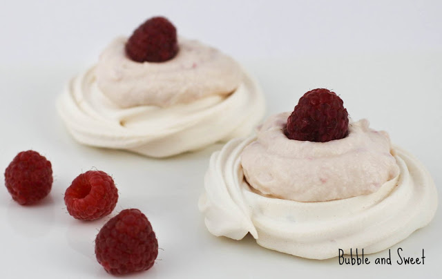 Bubble and Sweet: Raspberry Cream Meringues