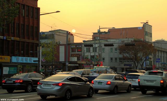 Puesta de sol en Seúl