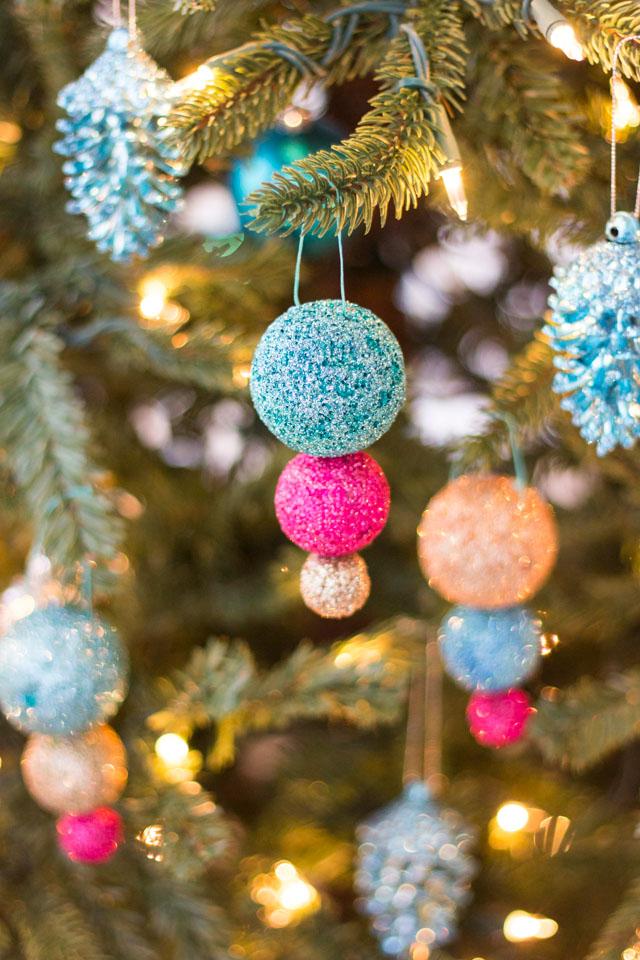 diy glitter ball ornaments design improvised