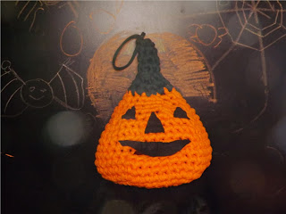 Calabaza de crochet para halloween
