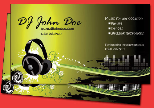 Dj Business Cards Templates Free Images Dj Business Card - Free dj business card template
