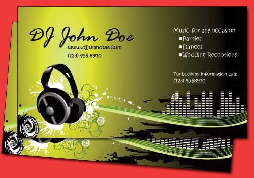 Dj Business Cards - Vistaprint