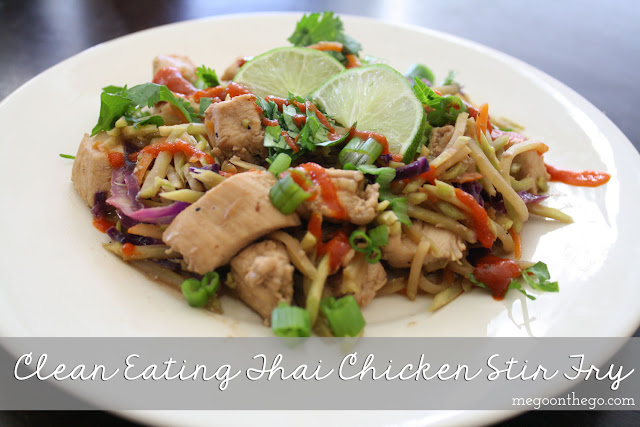 Clean Eating Thai Stir Fry Recipe by lifestyle blogger Meg O. on the Go