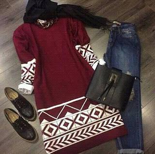 بالصور أحدث موديلات ملابس محجبات شتاء 2016
