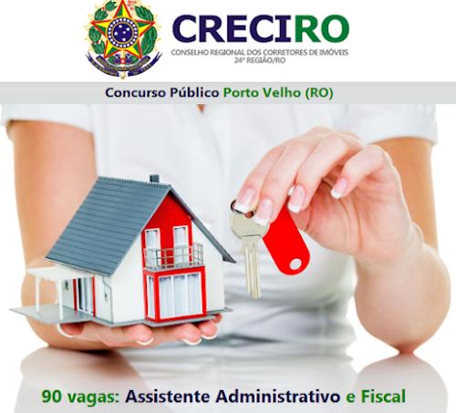 CRECI/RO abre concurso em Porto Velho (RO) com 90 vagas