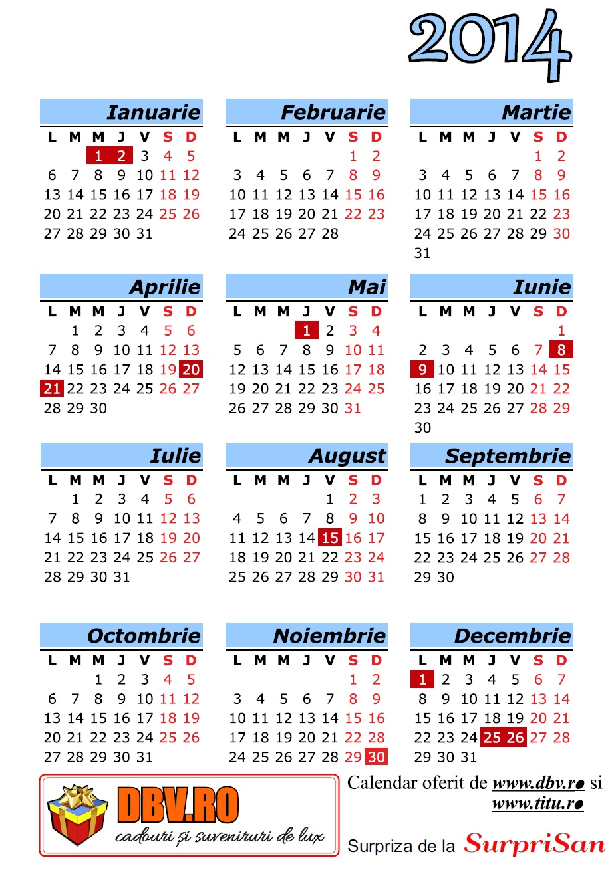 Calendar Românesc 2014 - 8