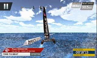 Screenshots of the America's Cup - Speed Trials for Android tablet, phone.