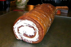 Finished Chocolate Cake Ice Cream Roll