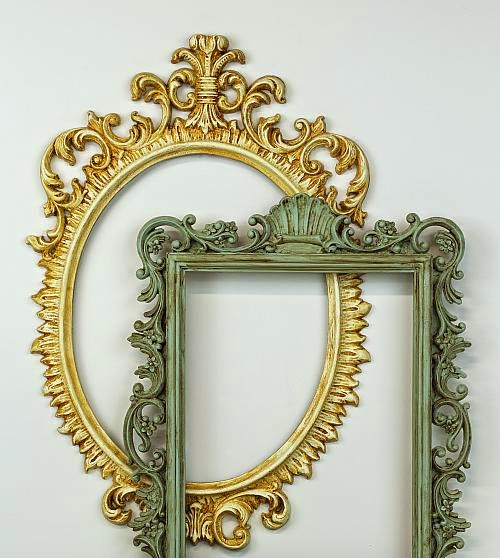 Give a new look to old plastic frames with Americana Decor Chalky Finish Paint.
