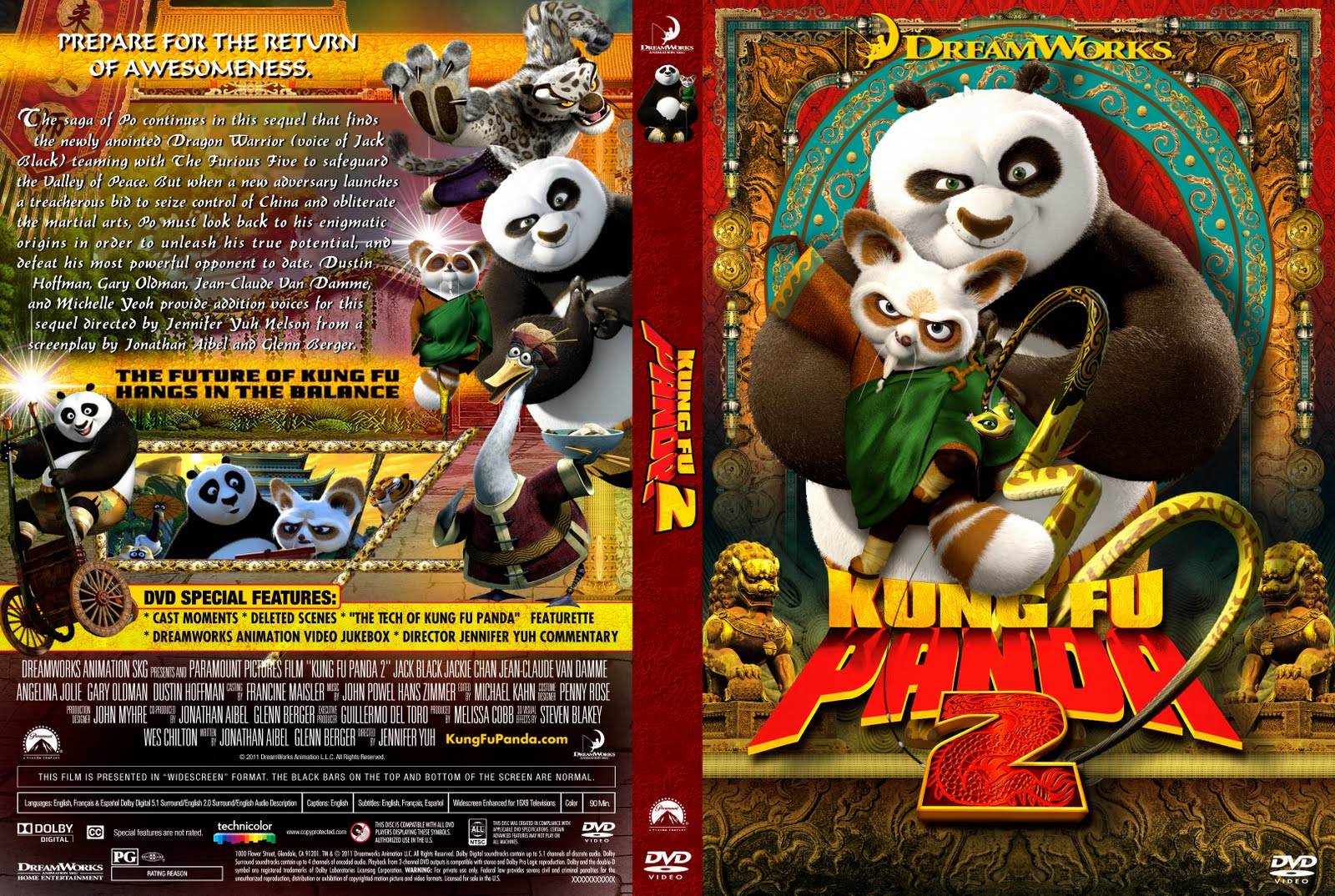 Kung Fu Panda 2 Dvd Cover DVD COVERS AND LABELS:...