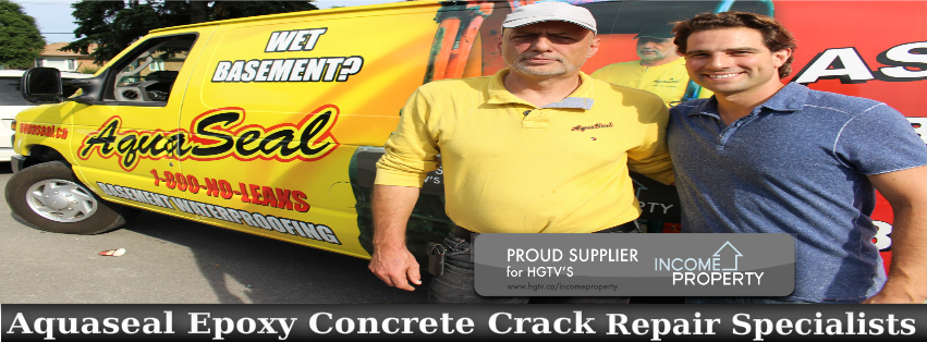Aquaseal Concrete Crack Repair Specialists Ontario 1-800-NO-LEAKS