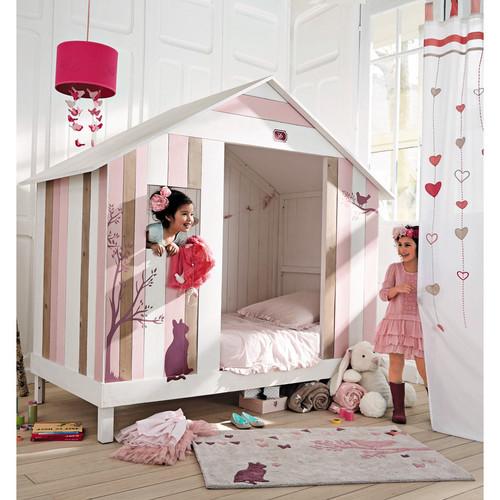 lit fille alinea. Black Bedroom Furniture Sets. Home Design Ideas