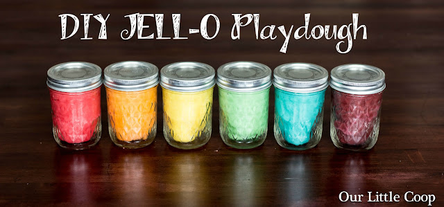 DIY, jello, playdough, flour, clay, modeling