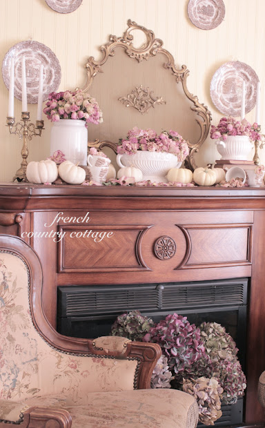 French Country Cottage Mantel Decor