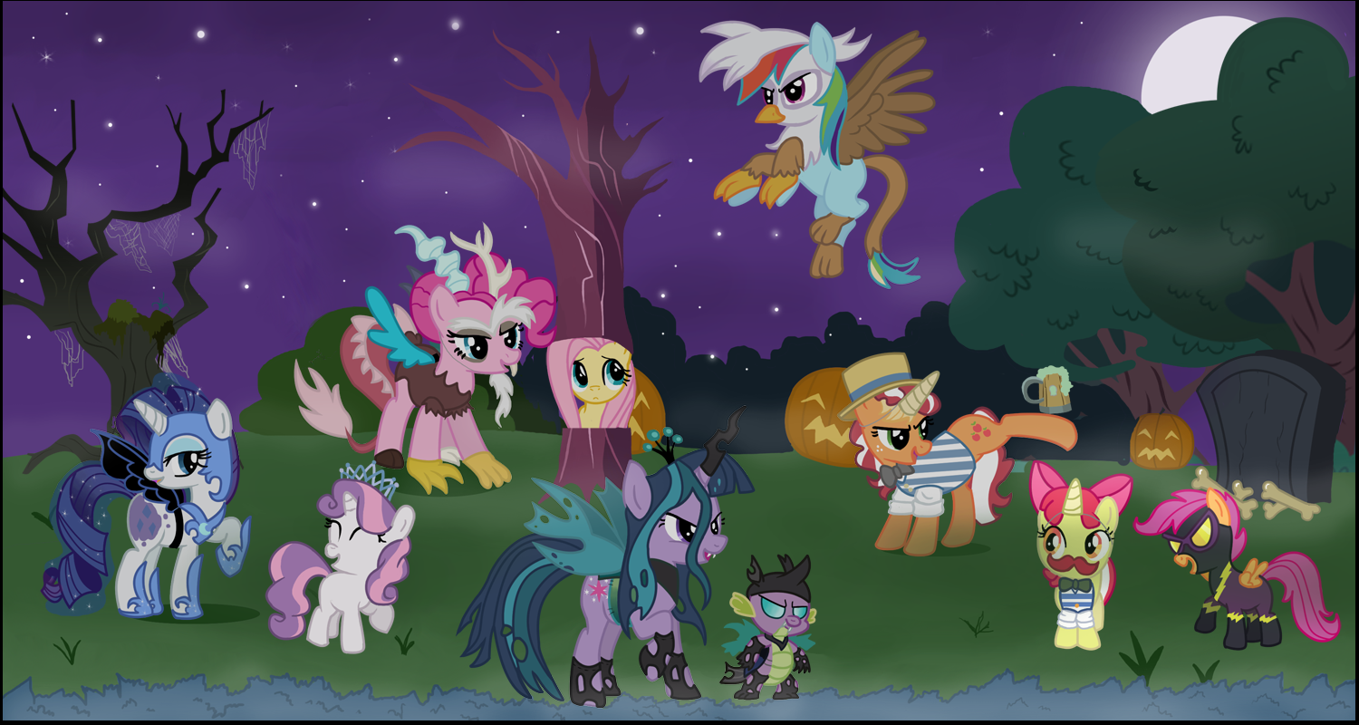 My Little Pony Friendship Is Magic Fan Blog!: NightMare Night Picture!