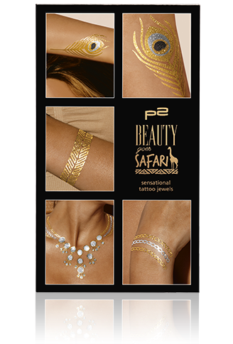 Preview: p2 Limited Edition: Beauty goes Safari - sensational tattoo jewels - www.annitschkasblog.de