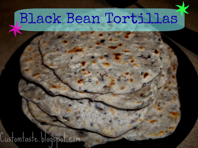 Black Bean Tortillas by Custom Taste