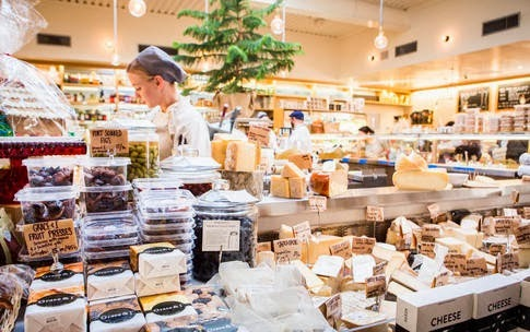 Artisan chocolates, meats, cheeses, condiments and deli
