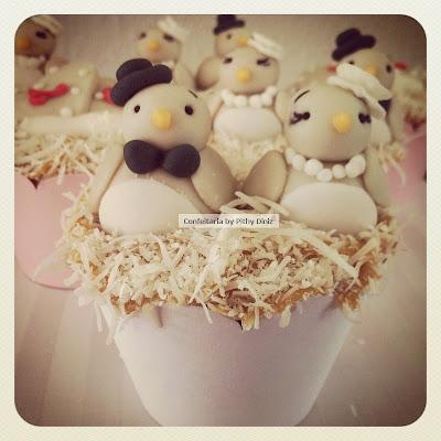 cups noivado Noivado dos passarinhos + Cupcakes de tapioca!